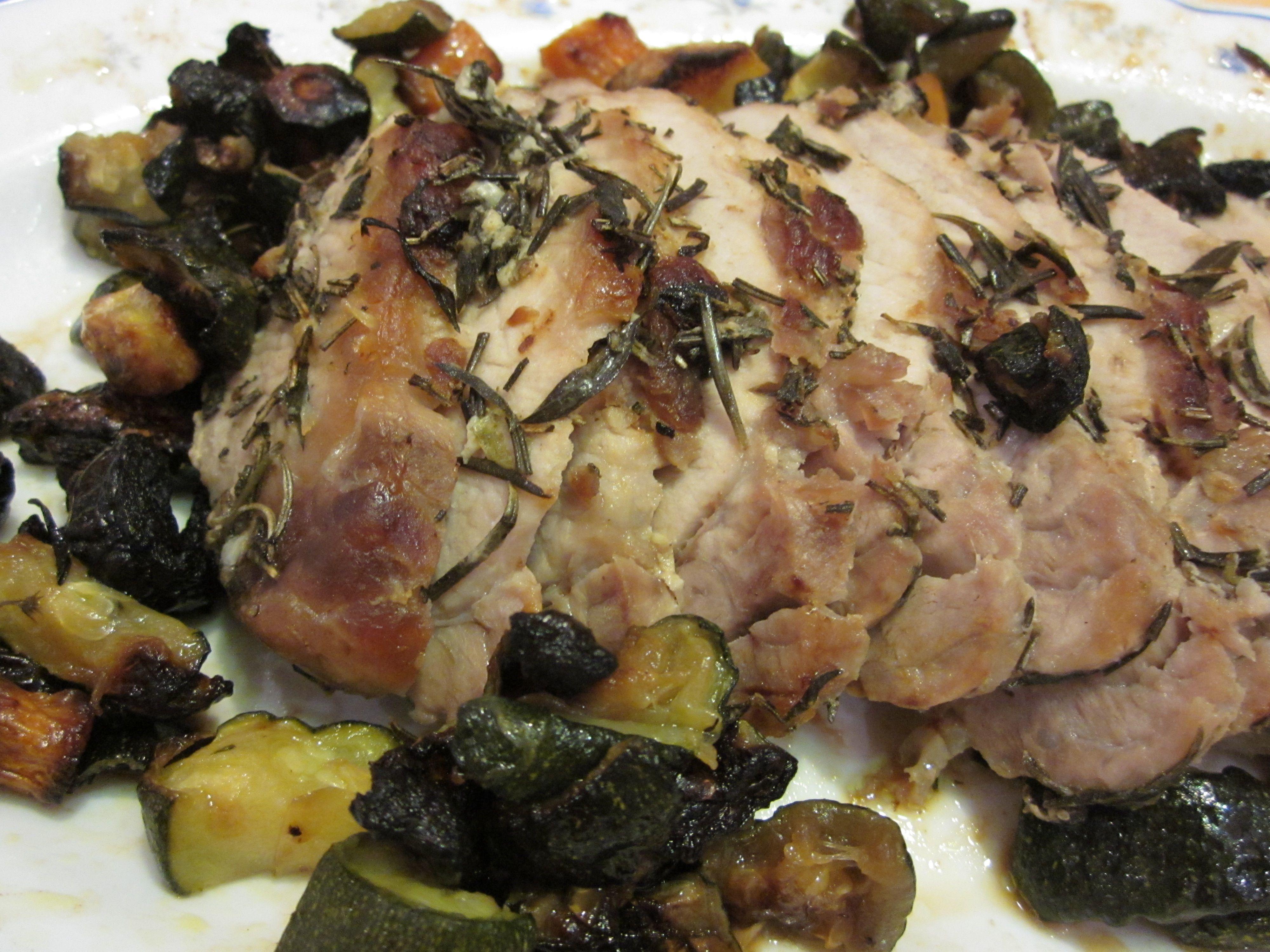 arrosto di maiale odoroso con verdure