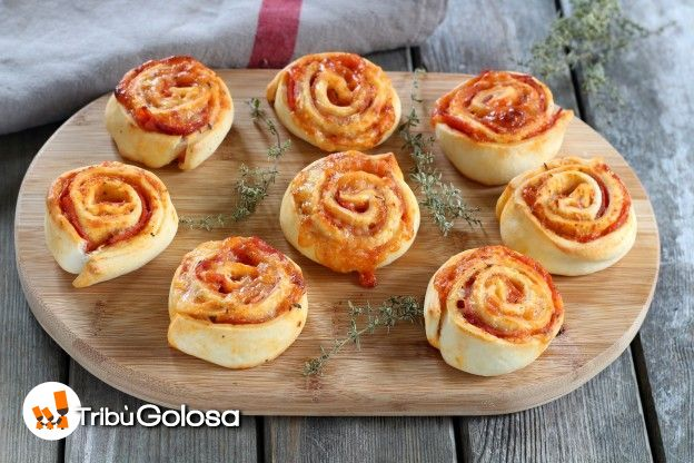 Rotolini di pizza