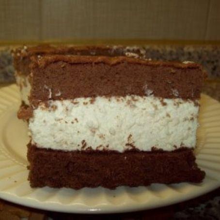 Torta fetta al latte con panna e Nutella