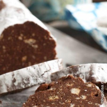Torta Senza Uova Al Cioccolato.Salame Di Cioccolato E Biscotti Senza Uova 3 9 5