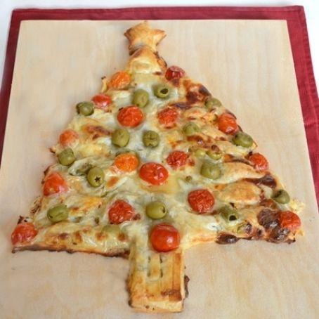 Albero Di Natale Di Pasta Sfoglia Salato.Albero Di Natale Di Pasta Sfoglia