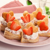 Vol au vent alle fragole