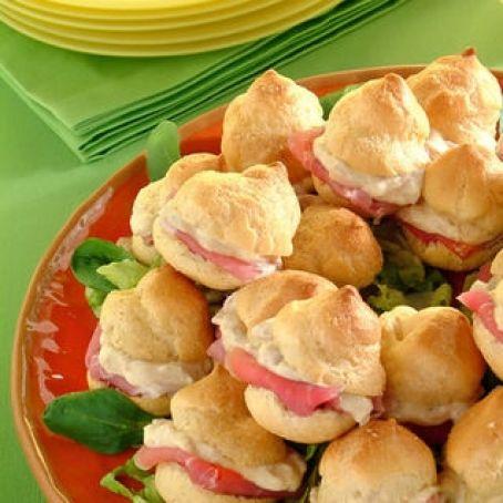 Ricetta Bigne Salati.Bigne Salato Al Prosciutto Crudo 2 8 5