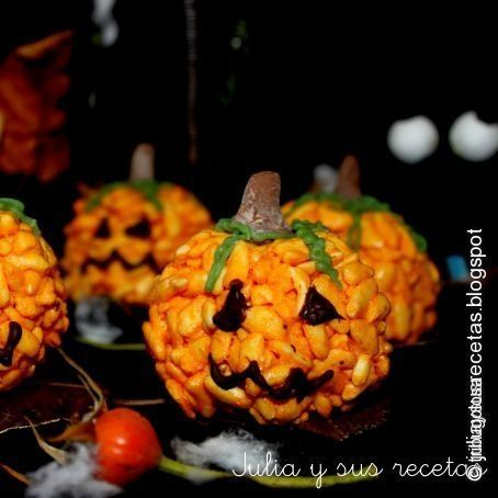 Zucche di halloween con riso soffiato for Foto zucche halloween
