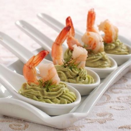 Antipasti Di Natale Con Gamberetti.Cucchiaini Salati All Avocado E Gamberetti 4 9 5