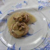 Orata al forno con funghi porcini su letto di patate 3 5 5 - Filetto di orata al forno su letto di patate ...