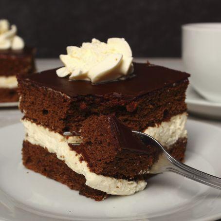 Ricetta Pan Di Spagna Al Cioccolato Al Latte.Pan Di Spagna Al Cioccolato E Crema Alla Vaniglia 4 1 5