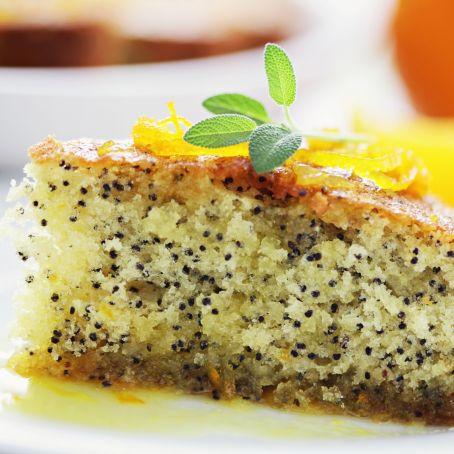 Torta con semi di papavero e arancia