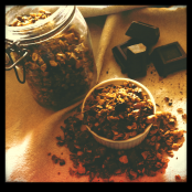 Chocolate vanilla cranberry granola