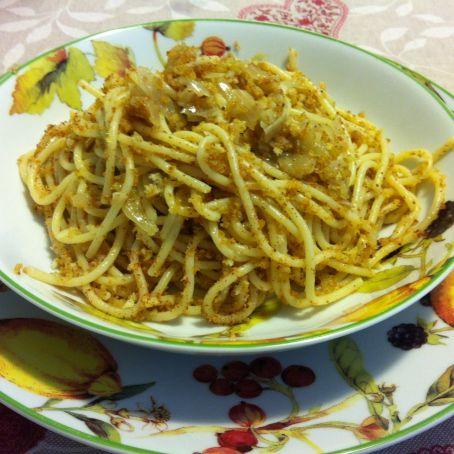 Spaghetti alle acciughe e pangrattato ricetta di dani for Ricette spaghetti