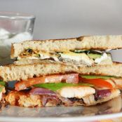 Chicken club sandwich light