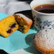Muffin con mirtilli e mandorle