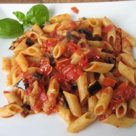 Penne con le melanzane 2 7 5 for Spaghetti ricette