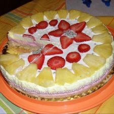 Torta bicolore tipo cheesecake