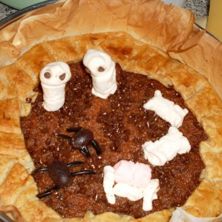Pumpkin pie di halloween