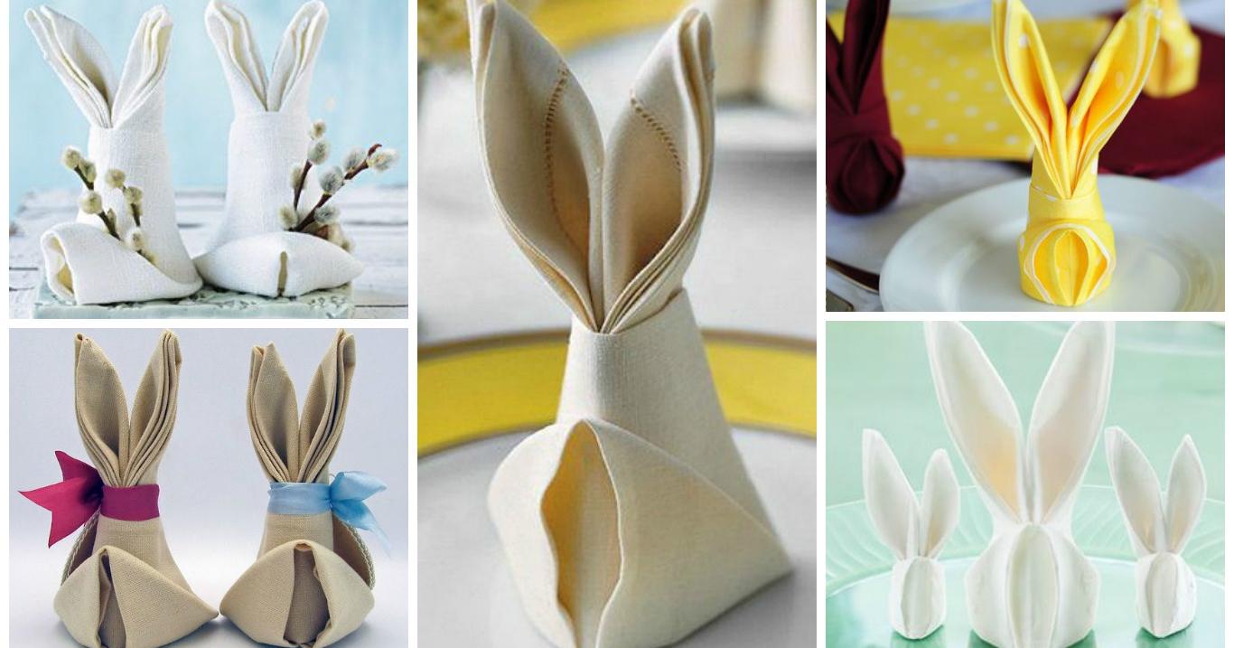 Piegare Tovaglioli Di Carta come piegare un tovagliolo a forma di coniglio per la tavola