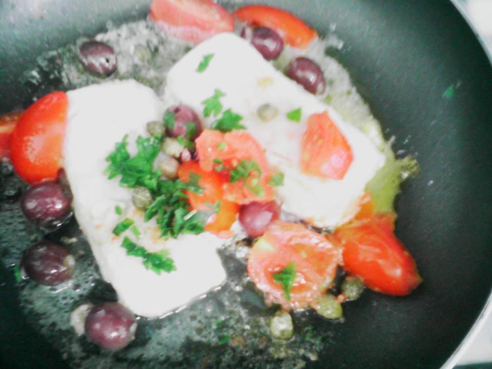 Filetti di merluzzo alla puttanesca