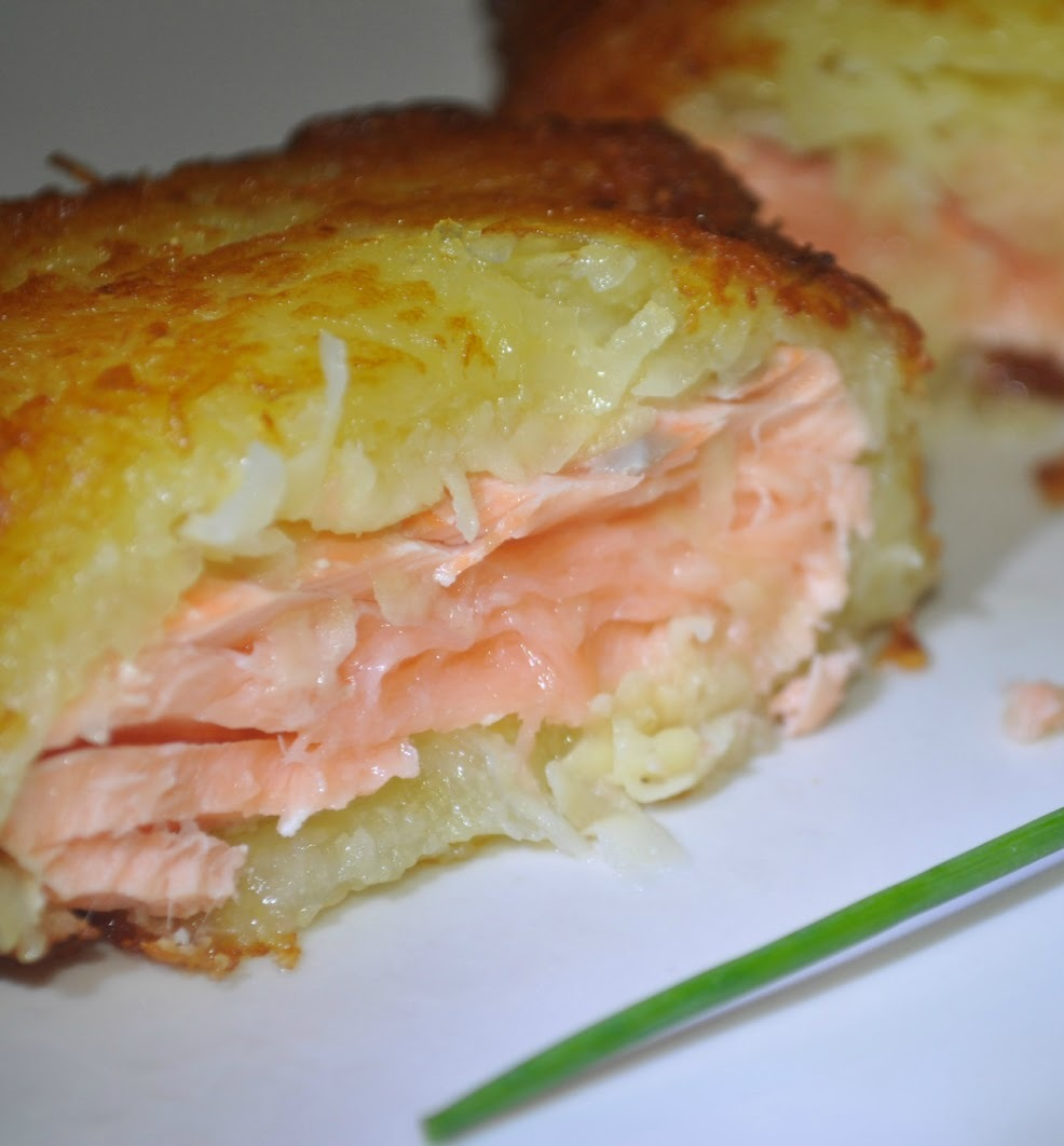 Ricetta Salmone Con Patate Al Forno.Filetto Di Salmone In Crosta Di Patate 3 4 5