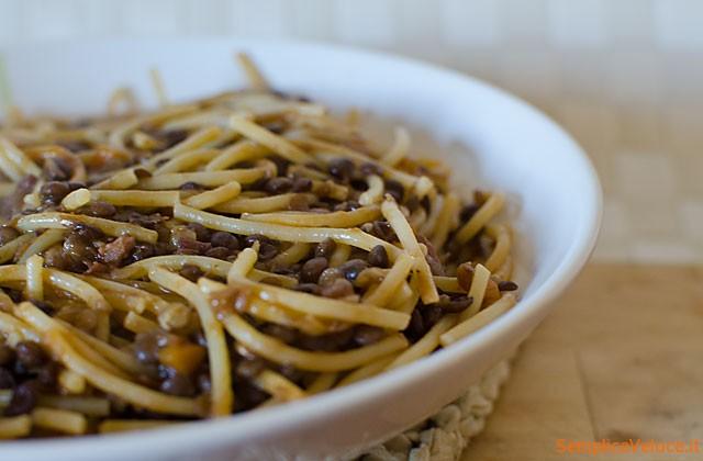pasta e lenticchie con spaghetti 35