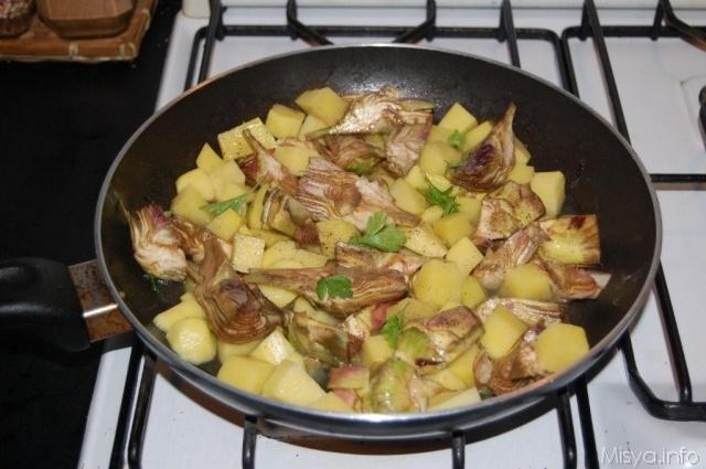 Contorno con carciofi e patate 4 5 5 for Ricette con carciofi