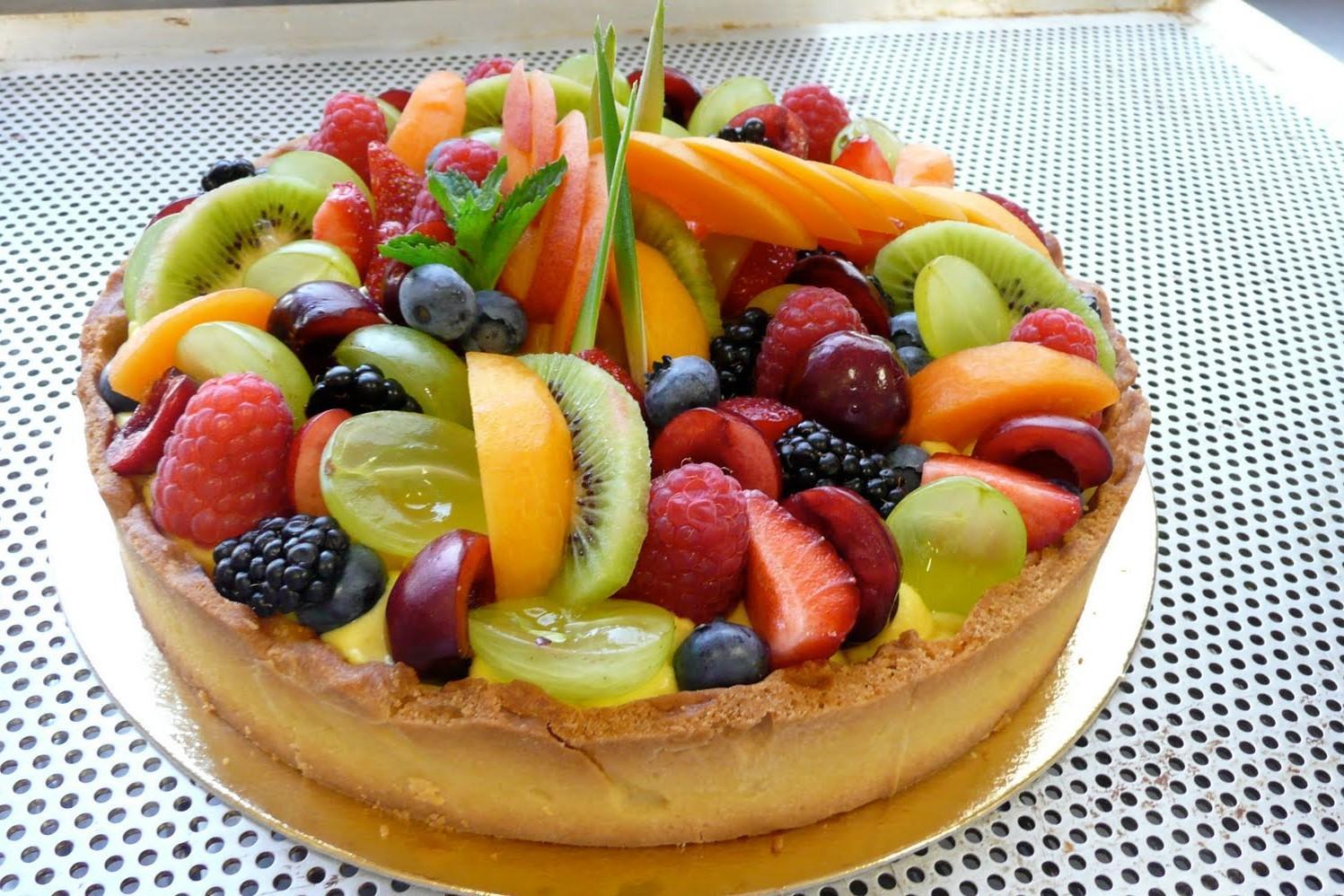 Composizioni Facili Di Frutta torta alla frutta e crema - (3.5/5)
