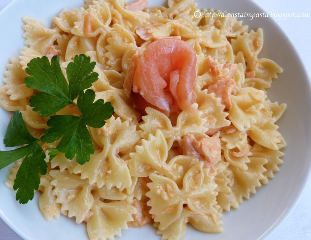 Ricetta di pasta al salmone con panna