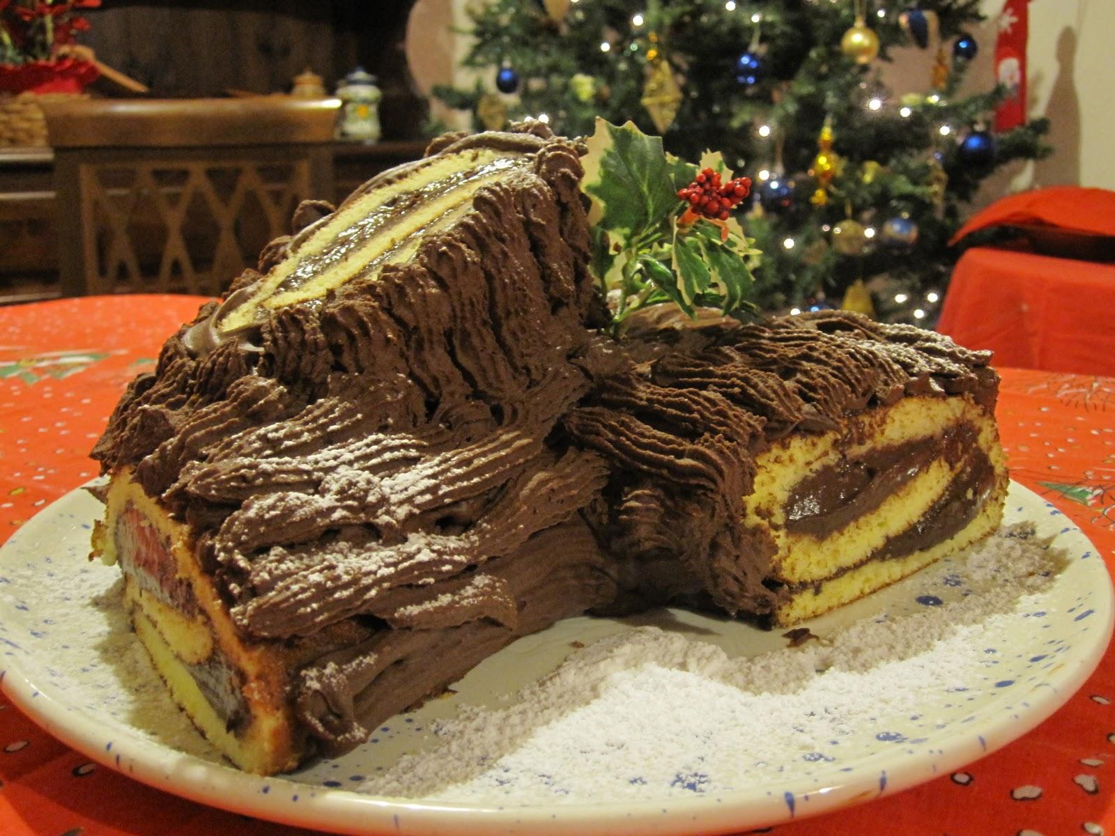 Torta Tronchetto Di Natale.Tronco Natalizio