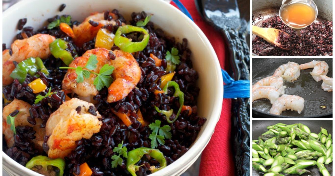 Ricetta con il riso venere for Pesce chicco di riso